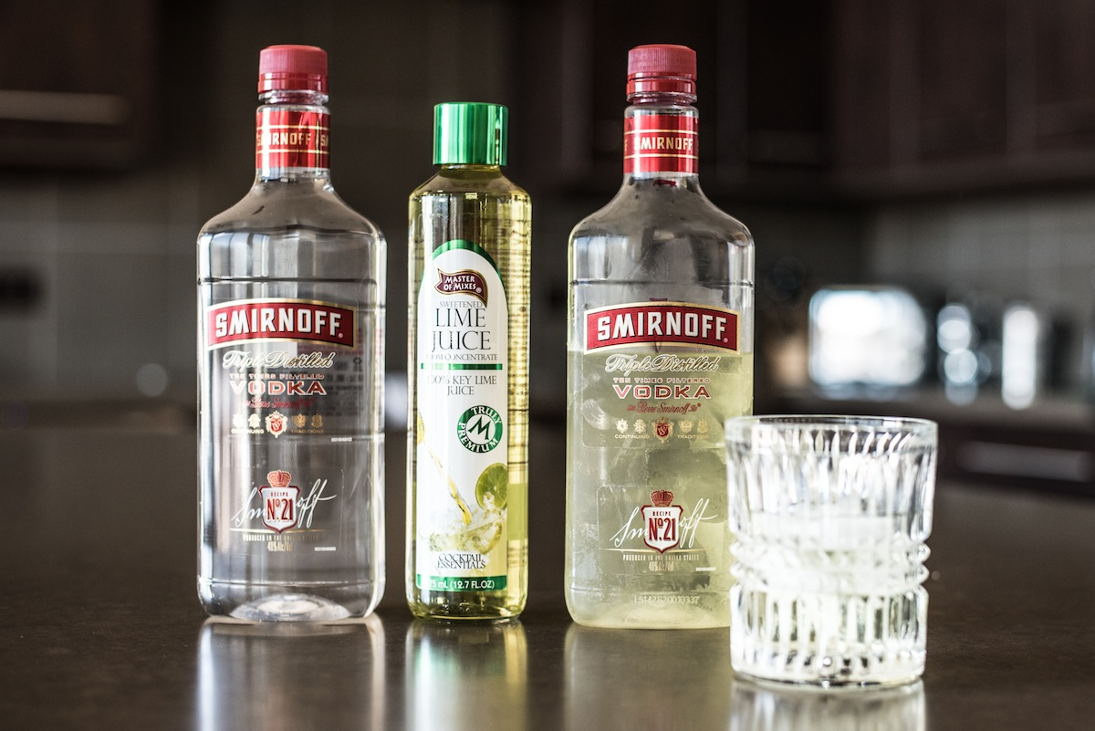 Making gimlets with Smirnoff makes knowing proportions simple