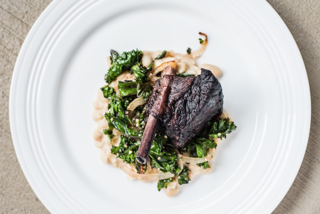 Braised Short Ribs with White Beans and Kale