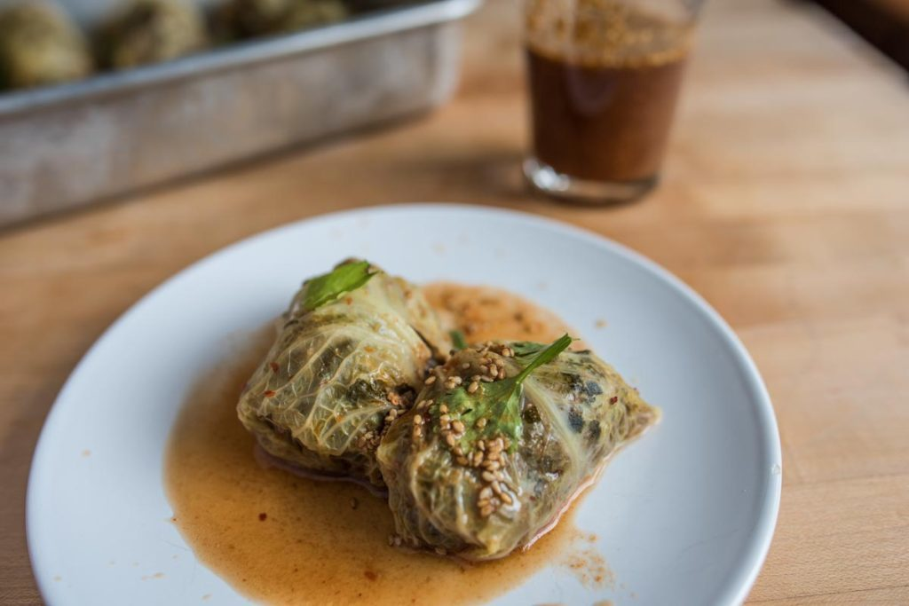 Beef and Quinoa Cabbage Rolls