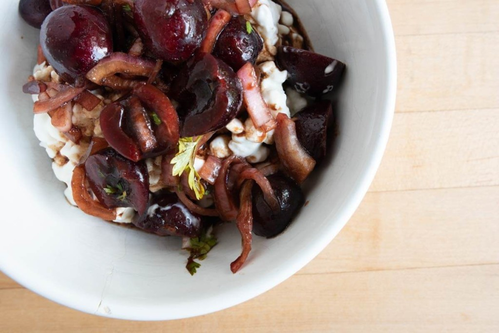Cherries Balsamic Vinegar with Shallots