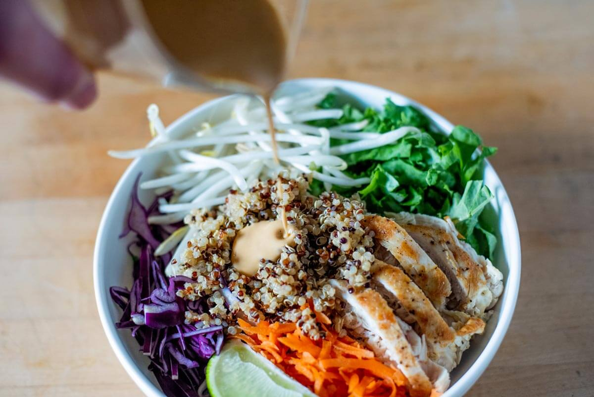 protein thai chicken salad