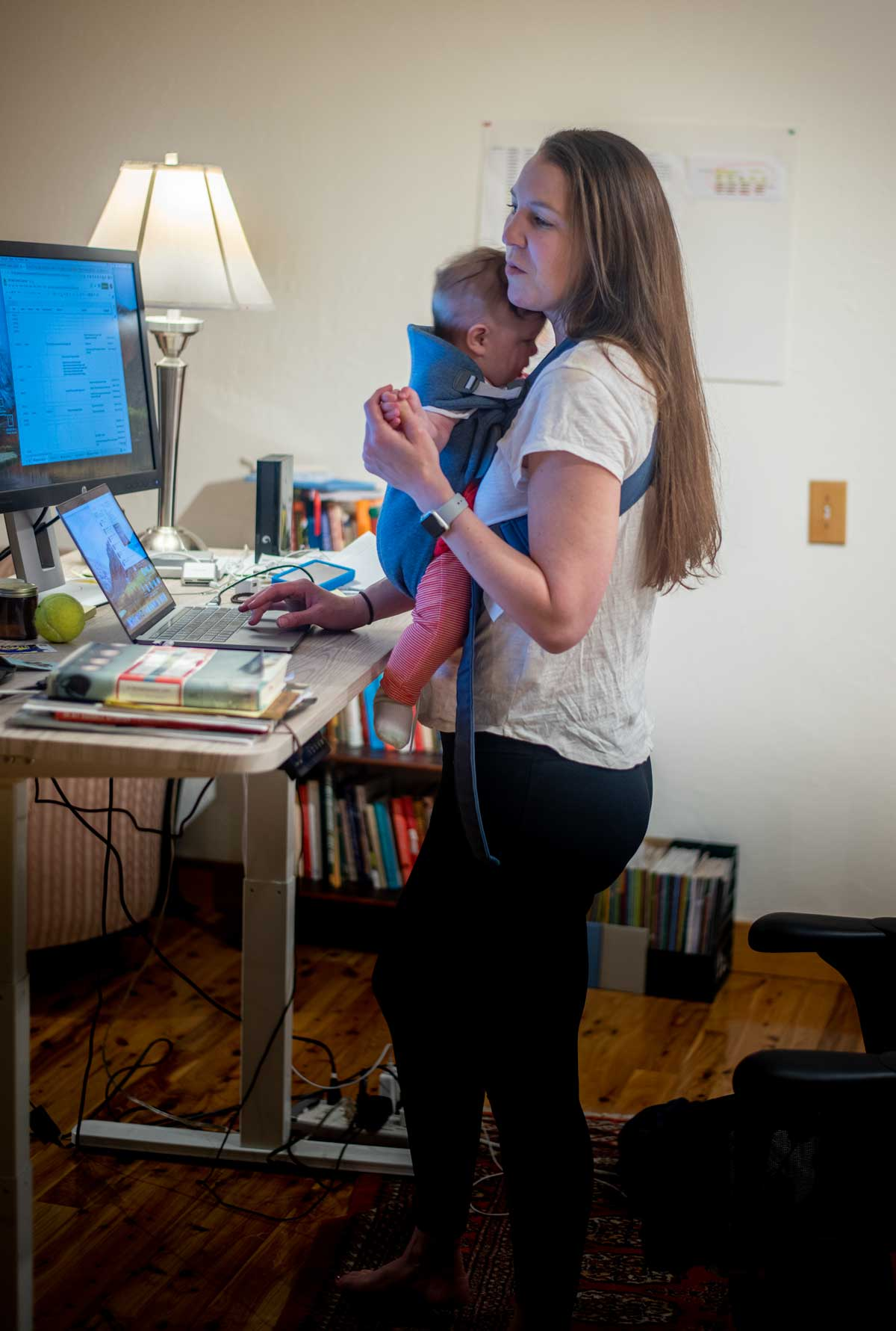 baby wearing while working